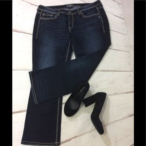 Silver Jeans - Lola Straight Leg - distressed look